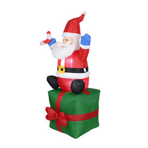 1.8M Cute Inflatable Santa Claus christmas inflatables Outdoors holiday inflatable floating santa claus
