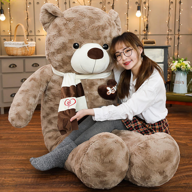 Hot Giant Teddy Bear Plush Brown Giant Teddy Bear Skin 80/100/120/160/200 lovely soft plush unstuffed teddy bear skin toy gift
