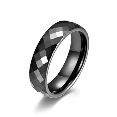 New 5 Style Light Black Geometric Ceramic Rings for Women Cut Surface Ceramic Jewelry Fashion Women Men Ring Party Accessories