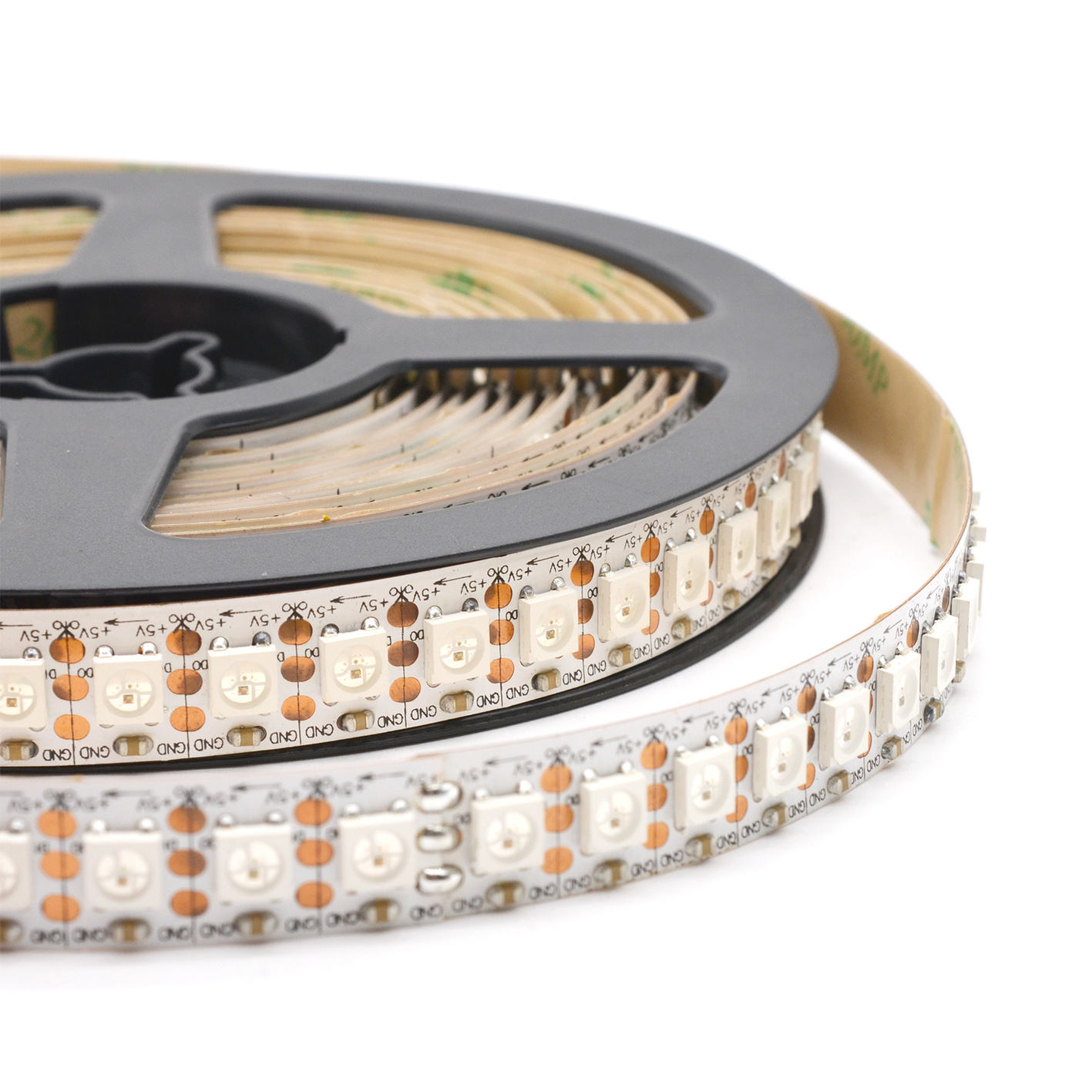 High quality Flexible DC5V Addressable Full Color 36W 120 LEDs/M Pixel sk6812 built in IC 5050 RGB LED strips