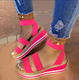 Women's sandals 2020 summer new flat bottomed thick bottomed women's shoes color matching open toe sandals drop shipping