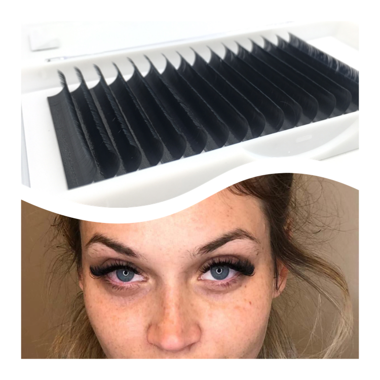 Private volume lashes individual eyelash silk eyelash extensions