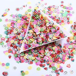 250 pcs/ bag 19 Style 3D Polymer Clay Tiny Fimo Fruit slices Wheel Nail Art DIY Designs Wheel Nail Art Decorations