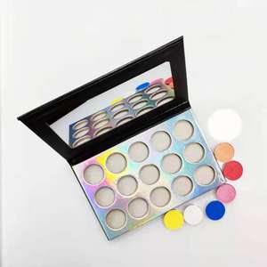 High pigment cheap customized bright color makeup eyeshadow palette and single eyeshadow