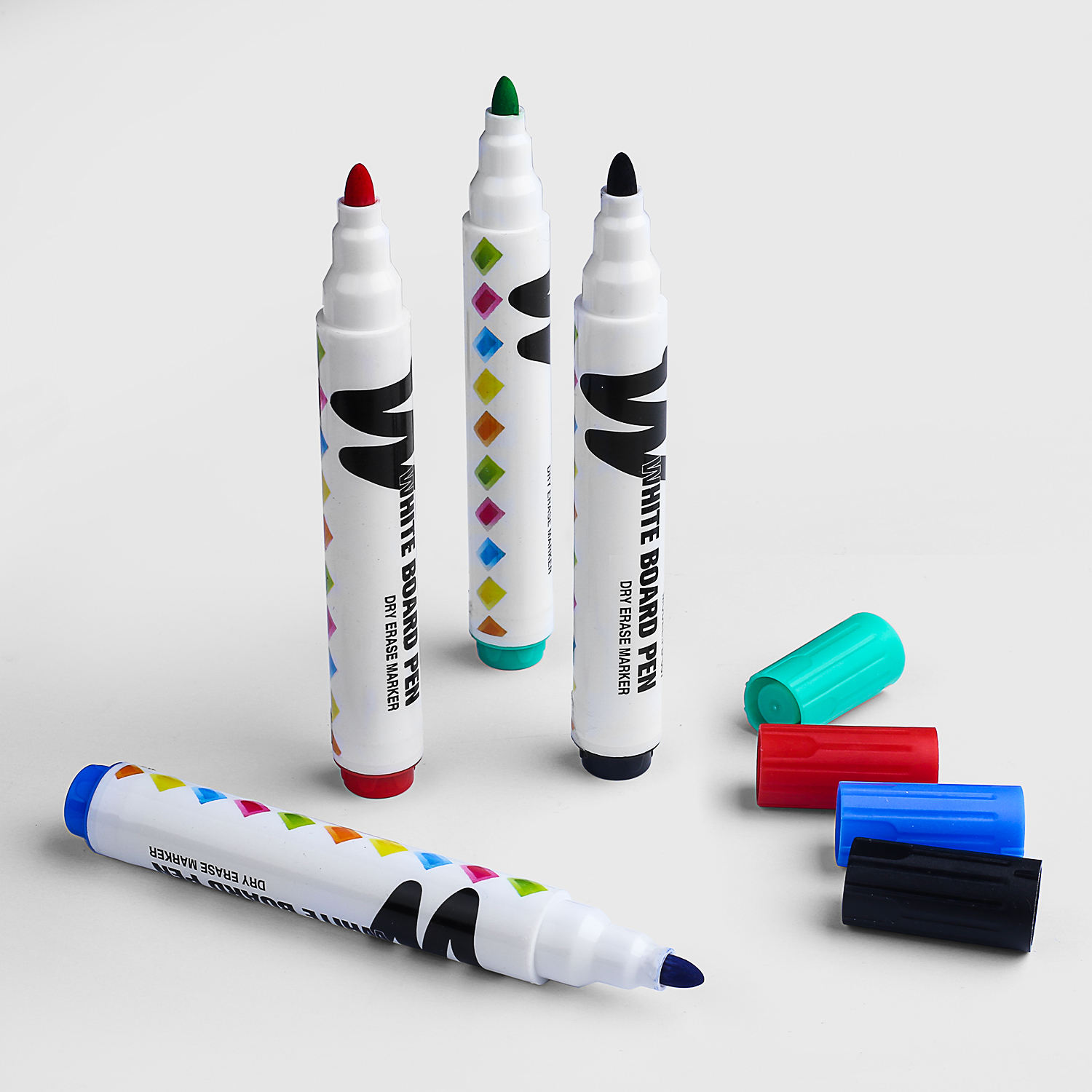 2020 New Design Dry Erase Markers Fine Tip Assorted Colors Refillable Whiteboard Marker Pen Set