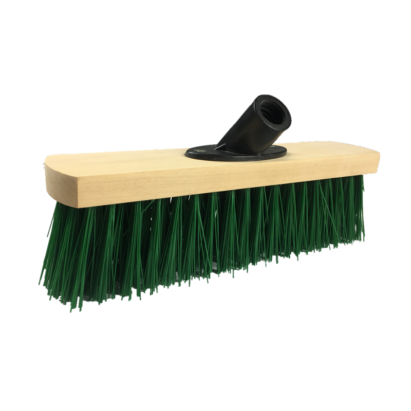 High Quality Green Stiff Bristle Scrubbing Deck Broom