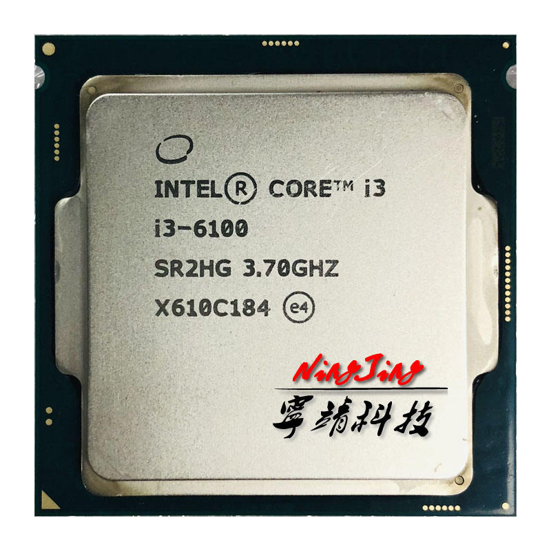 Intel Core i3-6100 i3 6100 3.7 GHz Dual-Core Quad-Thread 51W CPU Processor LGA 1151
