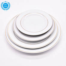 flat ceramic round heating decoration charger plate wholesale set ceramic dinnerware