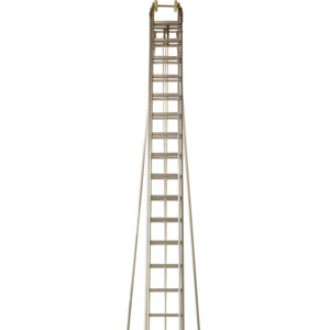 Customize length 9 meter 12m 15m Rescue Fire Fighting Aluminum 2 Section Ladders