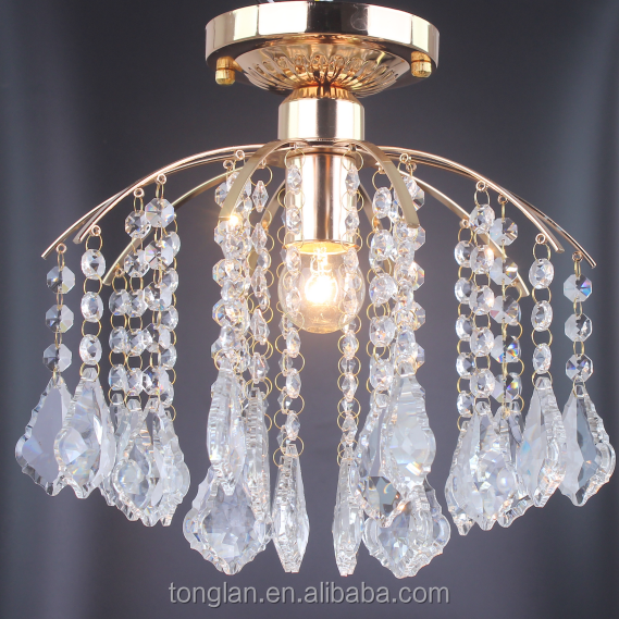 Modern Design Lamp Chandelier Gold Crystal Ceiling Lamp Ceiling Light Crystal Factory Price for Hotel Living Dinning Room CL102