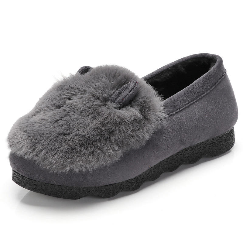 2019 Factory stock Plush Platform Indoor Slippers Women Pure Color Wool Plush Soft High Density Plush Slippers