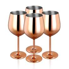 HIGH SS COPPER WINE GLASS FANCY PARTY WARE GLASS