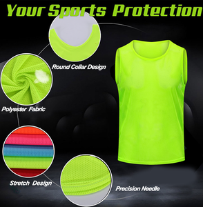 Wholesale polyester custom football soccer bibs training vest with number