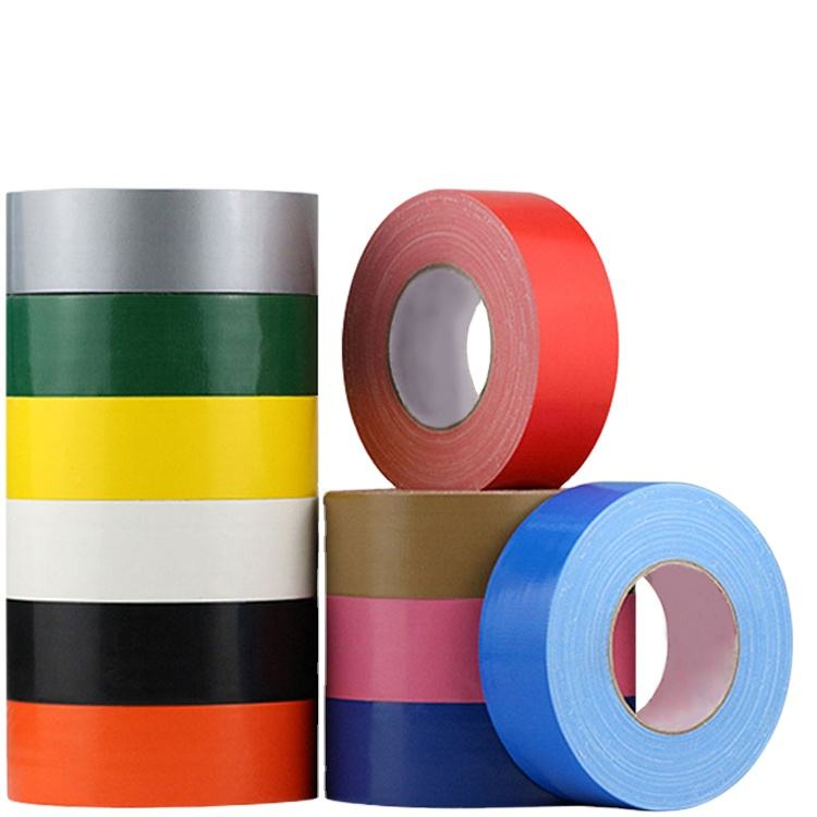 Colorful Cloth Duct Tape for Good adhesive/Custom Printed /Different Mesh Hot sales BLACK 50mm x 50m