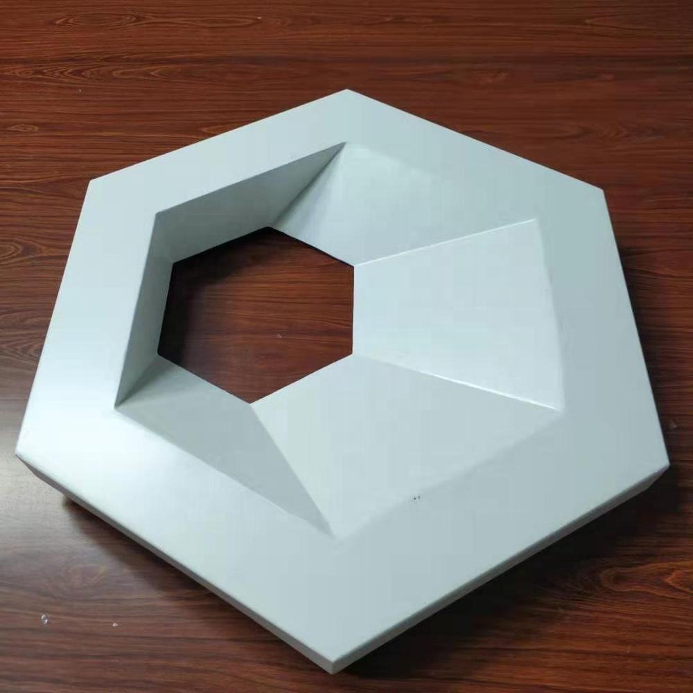 Building Aluminum Material Decorative 3d Wall Metal Hexagon Wall Cladding 3d Decor Panels