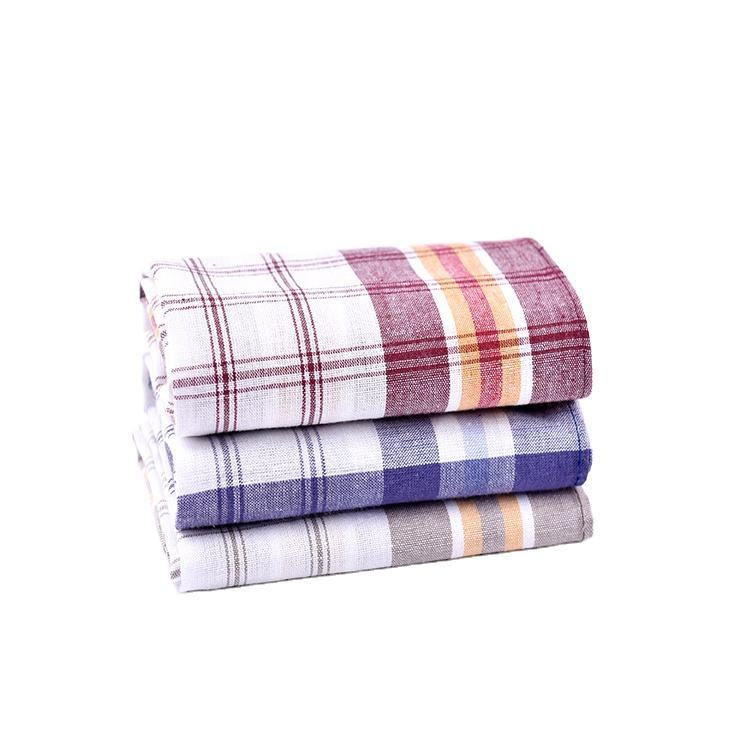 Kitchen disposable 100% cotton yarn dyed dish cloth set wholesale