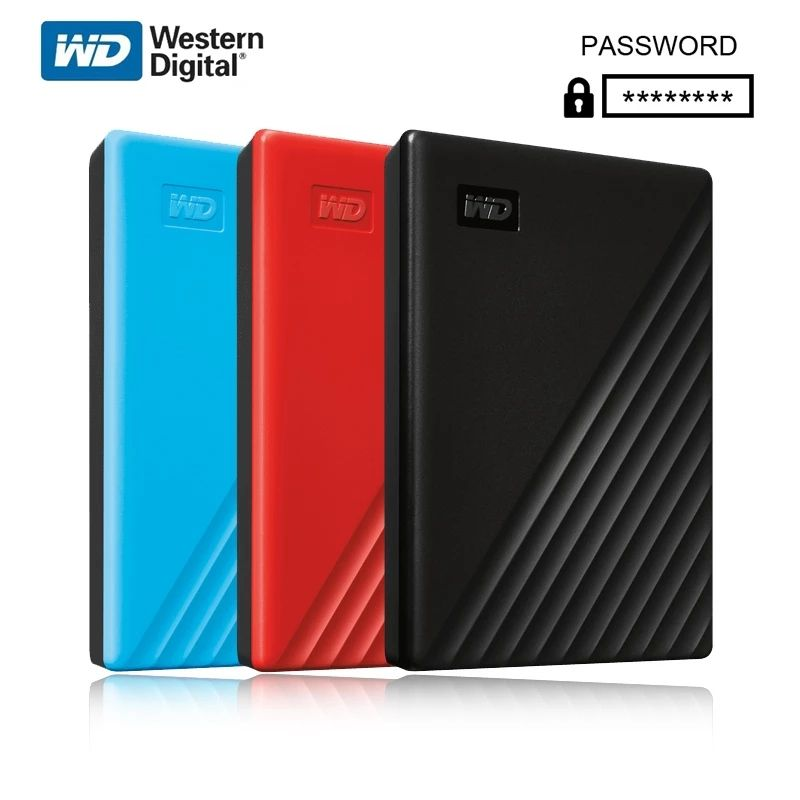 New Western Digital WD My Passport 1TB 2TB External Hard Drive USB 3.0 password protection 4TB 5TB HDD Portable Mobile Hard DisK