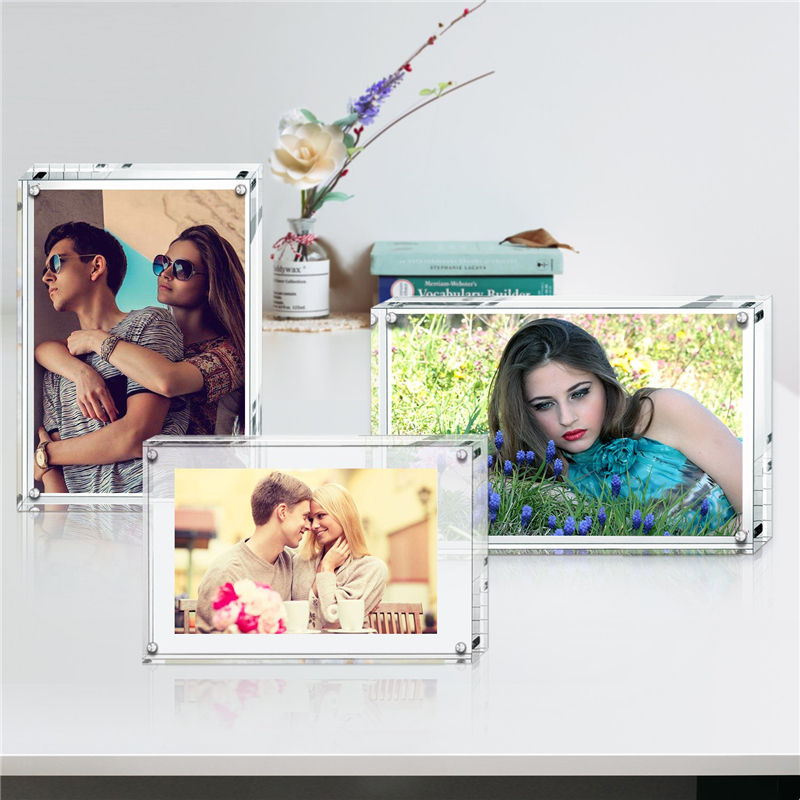 4x6 inches clear lucite photo frame acrylic picture frame with magnetic