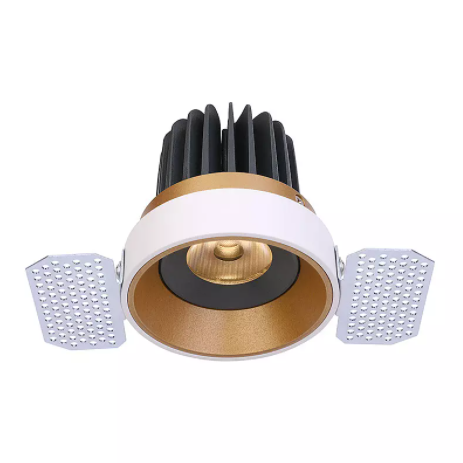 Fillux 2021 New Economical Stable Quality Unique Design 15W Gold Recessed Ceiling Lights for Room Downlight LED Wall Spotlight