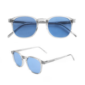 Brand Fashionable Unisex Polarized Clear Acetate Sunglasses