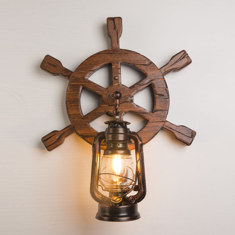 Laomuzi Supply Made In China High Quality Vintage Stylish Wooden Wall Lamp