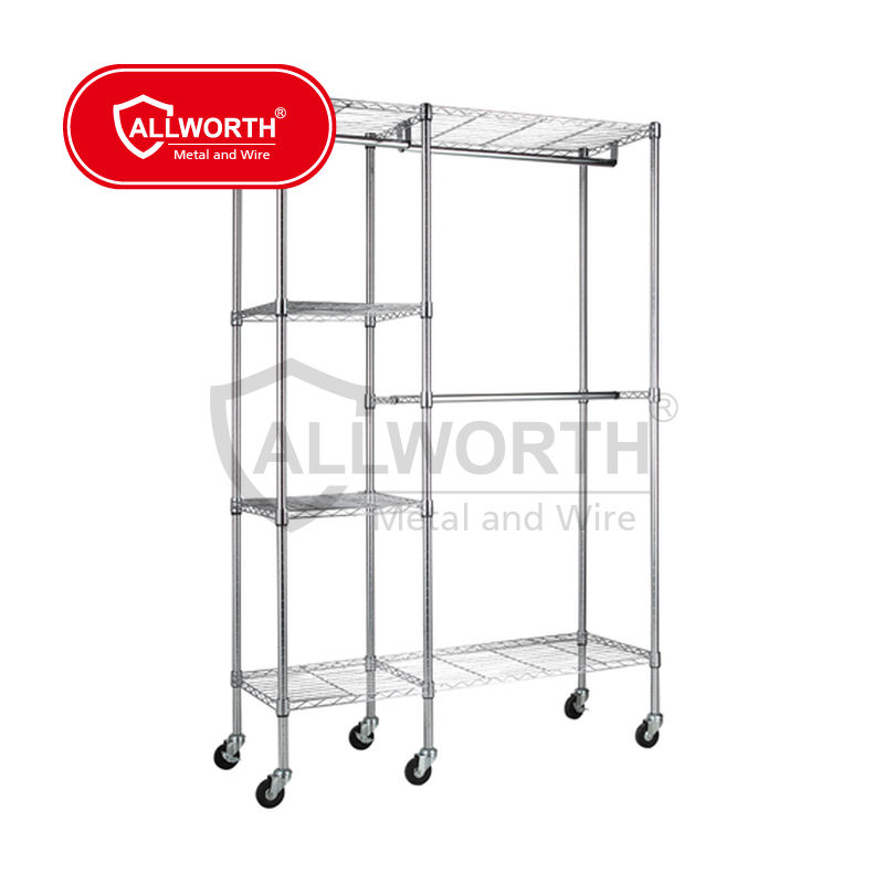 Garment Light Duty Sliding Basket Shelf