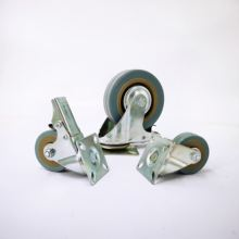2/3/4 Inch Grey PVC Caster Wheel for Trolley