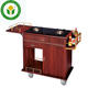 Hotel kitchen wooden double gas restaurant cooking cart dining hall cooking trolley