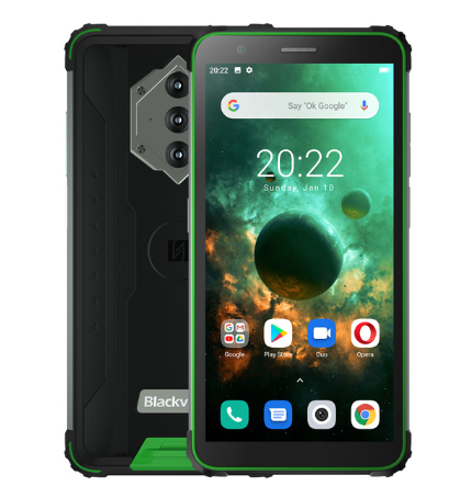 "Blackview BV6600 8580Mah IP68 Waterdichte Robuuste Smartphone Octa Core 4Gb + 64Gb 5.7 ""Fhd 16MP Camera nfc Android 10 <span class=keywords><strong>Mobiele</strong></span> <span class=keywords><strong>Telefoon</strong></span>"