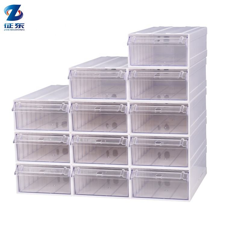 Heavy Duty Assembly Plastic Stackable Nuts Bolt Compartment Sample Storage Box Screw Organizer