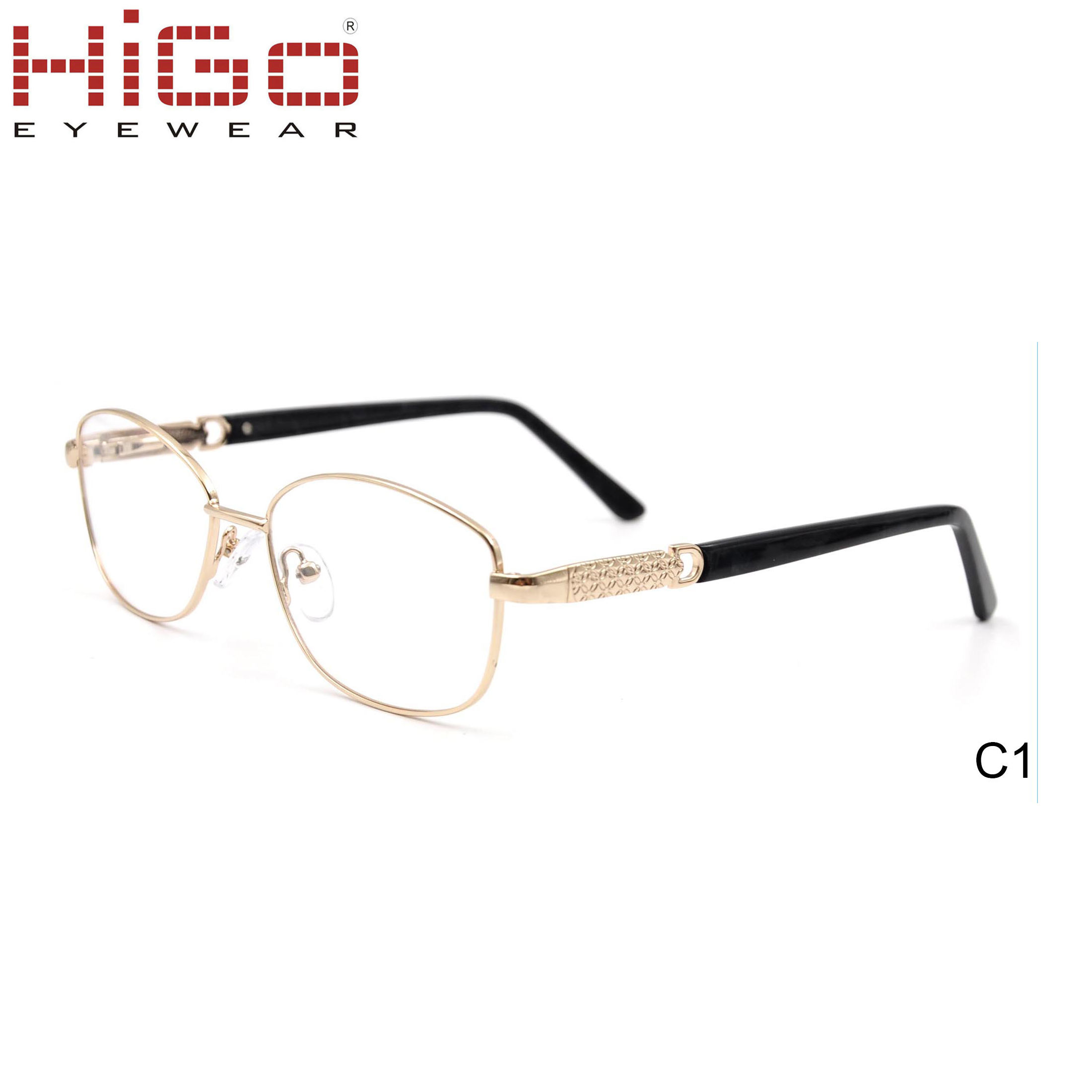 Most Popular Classical Gold Metal Spring Hinge Optical Eyewear Frame