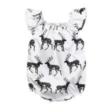 Baby Girl Romper Deer Print Newborn baby clothes New Pattern Jumpsuit Infant Baby Girl Clothes