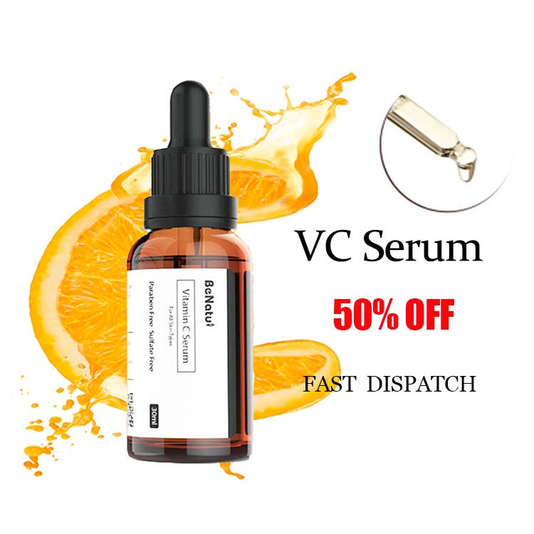 Private Label Anti Aging Pure Organic Skin Care Moisturizing Face Serum Whitening Vitamin C Serum for Face
