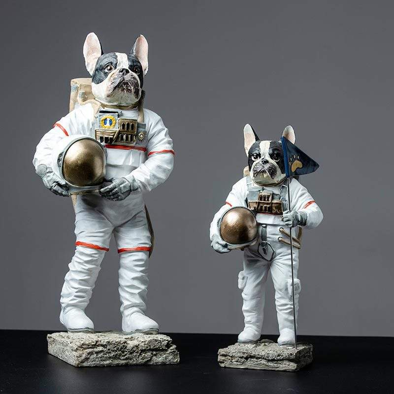Astronaut Statues Sculpture Figurine Ornament Home Arts and Crafts Desktop Accessories