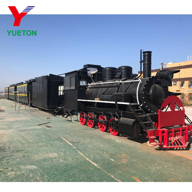 High Quality Theme Park Amusement Rides Design Supplier Outdoor Big Antique Track Rail Train For Kids And Adult