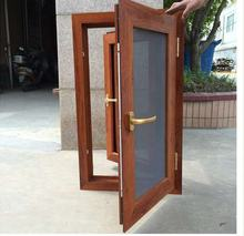Broken bridge aluminum alloy mute high quality steel yarn integrated casement windows slide window with mosquito net