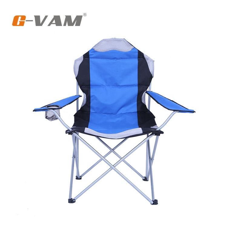 Outdoor Good Quality Luxury Cozy Portable Folding Camping Chair With Padding and Armrest