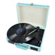 OEM Portable Suitcase Style PU Leather LP TO Digital Converter Turntable Player With Bluetooth