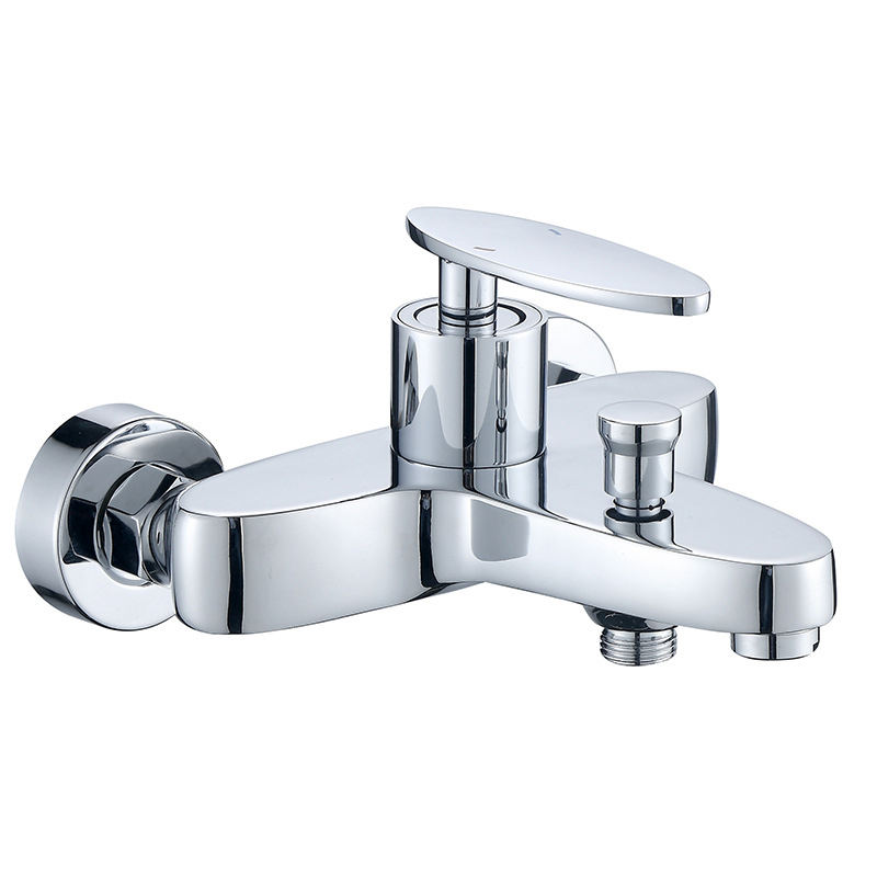High quality and low price brass rod wall bathroom faucet bathtub shower mixer faucet