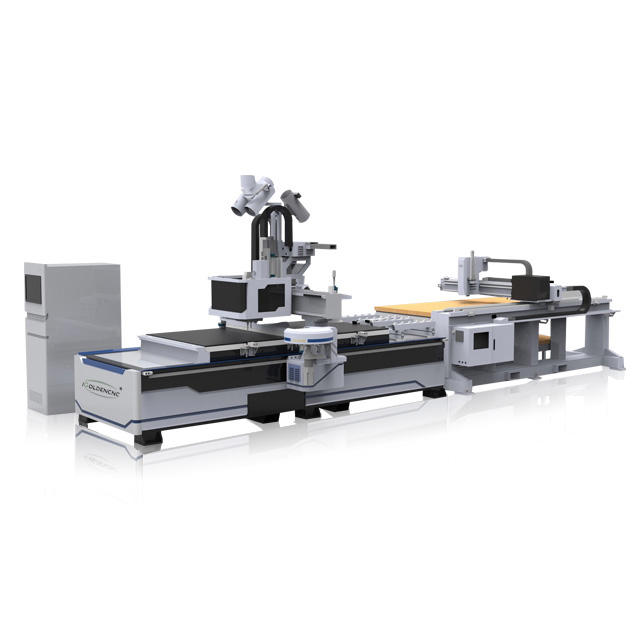 1325 ATC with drilling unit automatic labeling cnc router nesting machine for cabinet wooden furniture making