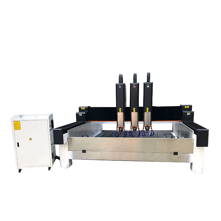 Multi function stone carving and cutting shaping machine, suitable for bridge , building,cobble, curl stone