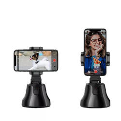 All-in-one Smart Selfie Stick, 360 Rotates Auto Face & Object Tracking Vlog Shooting Smartphone Mount Holder