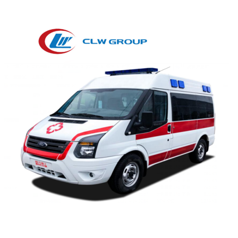 Top Quality 4 wheelers model equipment military ambulance with famous brand ambulance high roof configuration