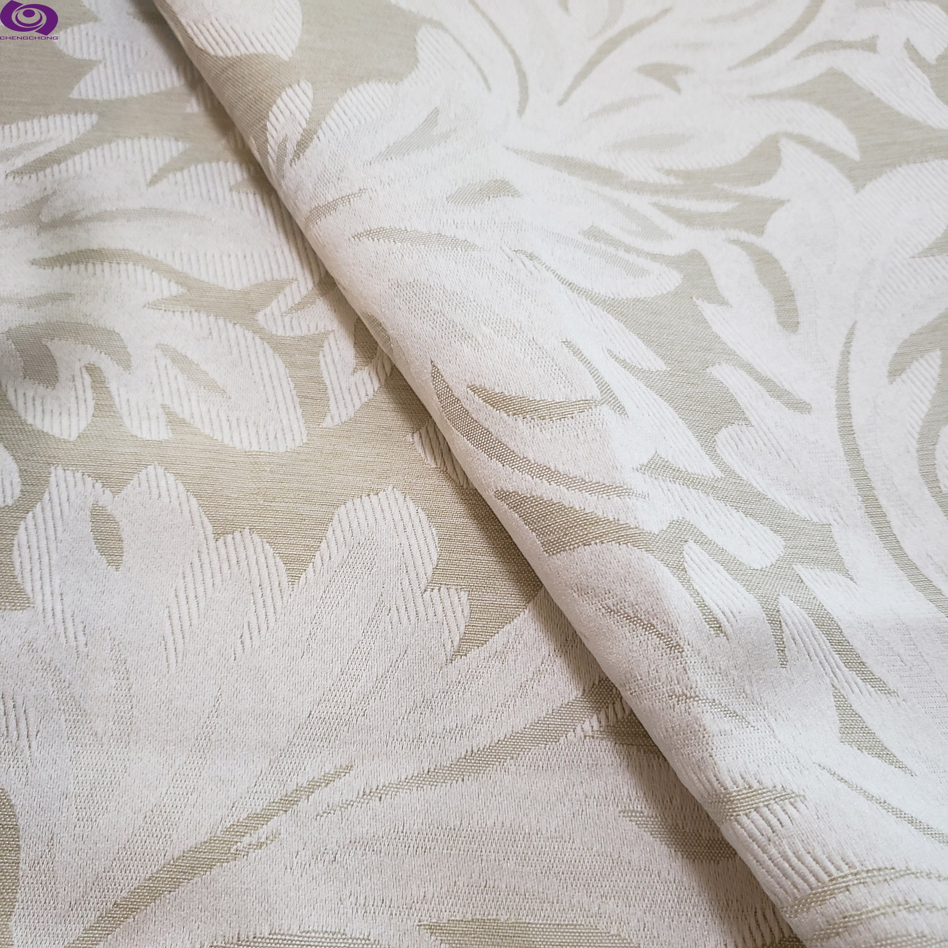Shaoxing manufacture jacquard woven fabric polyester metallic soft fabric