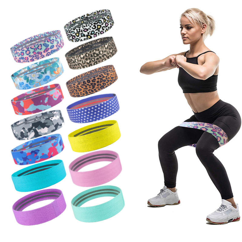 Cloth Black Fit Resistant Band Home Gym Heavy Resistance Bands Hip Belt For Legs And Butt