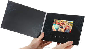 Advertising market tool promotional invitation card lcd screen brochure video player