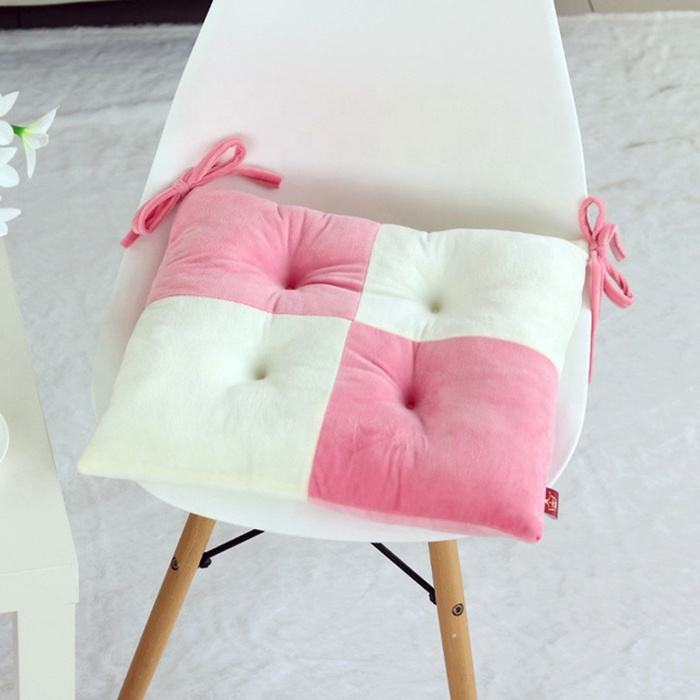 Multicolor Square Floor Cushion Student Desk Chair Cushion Seat