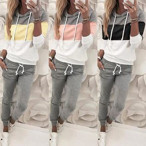 Custom Logo Ladies Jogger 2 Piece Clothing Sweat Suits Jogging Sports Women Tracksuit