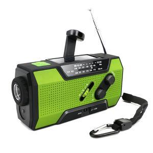 MD-090 Liberty Band Solar Flashlight Crank Noaa Weather Radio for Emergency
