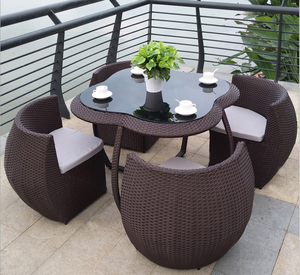 Save place fashion rattan chair set wicker garden chair set outdoor furniture